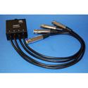 ETS PA202FP InstaSnake Adapter Send (4)FXLR 1.50 Ft. Pigtail to RJ45 Jack All Pins