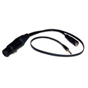 ETS PA922 Smartphone Audio Balun Cable for iPhone with Monitoring Tap - 18 Inch