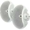 EVID Series Surface Mount Speakers - 70v/100v Models - White - Pair
