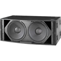 EV XSUB Dual 18-Inch 1200W Subwoofer - Ground Stack Only