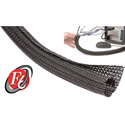TechFlex - 1 1/2 Inch F6-Self Wrap Sleeving Black 75ft
