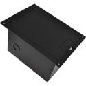 FSR FL-1300-BLK Floor Box with Hinged Door (Black)