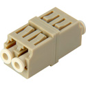 LC to LC Multimode Duplex Fiber Optic Coupler Adapter Bronze Sleeve