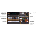 FOR-A HVS-110 HD/SD Portable Video Switcher - 12 SH/HD-SDI Inputs - 8 SD/HD-SDI Outputs - 1 HDMI Output