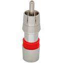 ICM FS59RCAU RG59/59 Quad Universal RCA Compression Connectors Nickel (Red) 25pk