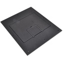 FSR FL-500P-SLD-BLK-C U-Access Solid Cover with Cable Exit (No Trim) - Black