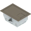 FSR RFL4.5-D2G-SLCLY 4.5-Inch Deep Back Box with 2 2-Gang Plates - Clay Trim