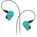 Fostex TE-04BK Turquoise Blue In-Ear Headphones with Detachable Cable and Mic