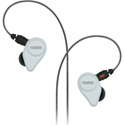 Fostex TE-04BK Clear White In-Ear Headphones with Detachable Cable and Mic
