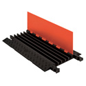 Guard Dog Low Profile-5 Channel with ADA Ramps - 3 Foot - Orange Lid/Black Base