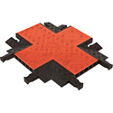 Guard Dog GDCR5X125 4-Way Cross For 5 Ch Cable Protector - Orange Lid/Black Ramp