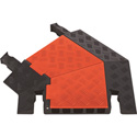 Guard Dog 45 Degree Left Turn For 5 Ch Cable Protector - Orange Lid/Black Ramps