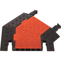 Guard Dog 45 Degree Right Turn For 5 Ch Cable Protector - Orange Lid/Black Ramps