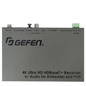 Gefen EXT-UHDA-HBTL-RX 4K Ultra HD HDBaseT Receiver with Audio De-Embedder and POH
