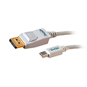 Gefen CAB-MDP2DPW-06MM Mini-DisplayPort to DisplayPort Male Cable 6 Ft.