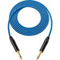 Canare GS-6 Instrument Cable w/Neutrik XS 1/4 Phone Plugs 15 Foot Blue