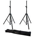 Gator Frameworks GFW-SPK-3000SET Pair of Deluxe Aluminum Speaker Stands with a Carry Bag