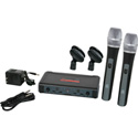 Galaxy ECDR/HH38-L Dual Handheld UHF Wireless Microphone System 655-679MHz