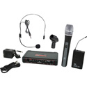 Galaxy Audio EDXR-HHBPS-D EDX Wireless Microphone System - Code D Freq. Range 584-607 MHz