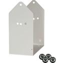 Galaxy Audio SAYBLA4-9 White Speaker Mount Bracket Accessory for item GXY-LA4DPMW
