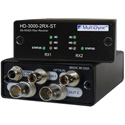 Multidyne HD-3000-2RX-ST Dual 1 Way Multi-rate Serial Digital Video Receiver - Two Fibers