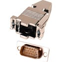 15-Pin HD Male D-Sub Connector with Metal Hood (DP15HD and 9H)