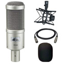 A Heil PR40 Mic with PRSM-B Shock Mount and Wind Screen and 15ft Mic Cable