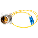 Camplex LEMO EDW to Duplex LC Internal Fiber Optic Breakout Cable 12 Inch