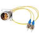 Camplex LEMO EDW to Dual ST Internal Fiber Optic Breakout Cable - 6 Inch