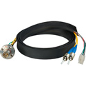 Camplex FCS015A-FR Hybrid Fiber Optic Receptacle Cable SMPTE/ARIB w/ ST - Female 1ft