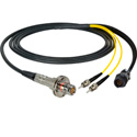 Camplex LEMO FMW to Dual ST & 8-Pin RG In-Line Fiber Breakout 6 Foot
