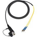 Camplex LEMO FUW to Dual ST In-Line Fiber Optic Breakout Cable - 6 Foot