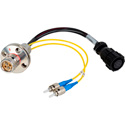 Camplex LEMO FXW to Dual ST & 8-Pin Amp Power Fiber Breakout Cable 6 Inch