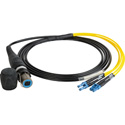 Camplex HF-OC4S-LC-0010 opticalCON QUAD to Quad LC Singlemode Fiber Optic Breakout 10-Foot