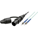 Camplex opticalCON LITE DUO to Dual ST Multimode Fiber Optic Tactical Patch Cable Cable - 1 Foot
