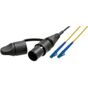 Camplex opticalCON LITE DUO to Dual LC Singlemode Fiber Optic Tactical Patch Cable  - 1 Foot