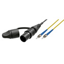 Camplex opticalCON LITE DUO to Dual ST Singlemode Fiber Optic Tactical Patch Cable - 1 Foot
