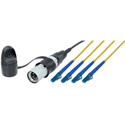 Camplex opticalCON LITE QUAD to Four LC Singlemode Fiber Optic Tactical Patch Cable - 1 Foot