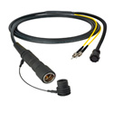 Camplex LEMO PUW to Dual ST & 8-Pin Amp In-Line Fiber Breakout 6 Foot