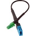 Camplex HF-SM-LCF-ALCM UPC LC Female to APC LC Male Singlemode Fiber Optic Tactical Adapter - 6 Inch