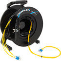 Camplex 4-Channel LC Single Mode Fiber Optic Tactical Snake on Reel 328 Ft