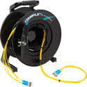 Camplex 4-Channel ST Single Mode Fiber Optic Tactical Snake on Reel 250 Ft
