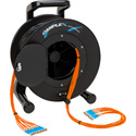 Camplex 12-Channel ST Multimode OM1 Fiber Optic Tactical Reel - 250 Foot