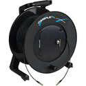 Camplex TAC1 Simplex 1-Channel OM1 Multimode LC Fiber Optic Tactical Cable Reel 1000 Foot