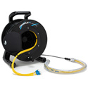 Camplex 12-Channel LC Single Mode Fiber Optic Tactical Snake on Reel w/ Protective Breakout 500Ft