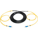 Camplex 2-Channel LC-Single Mode Tactical Fiber Optical Snake - 10 Foot