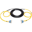 Camplex 4-Channel ST-Single Mode Tactical Fiber Optical Snake- 100 Foot