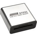 Hoodman Steel-USB3 SuperSpeed USB 3.0 UDMA Card Reader 5 Gb/s Data Transfers 10X Faster Downloads Than USB 2.0