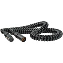Connectronics 4-Pin XLR Male To Female 16 Gauge Heavy Duty Power Cable 10 Foot Coiled