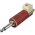 1/4in Phone to RJ-11c Modular - Wooden Barrel